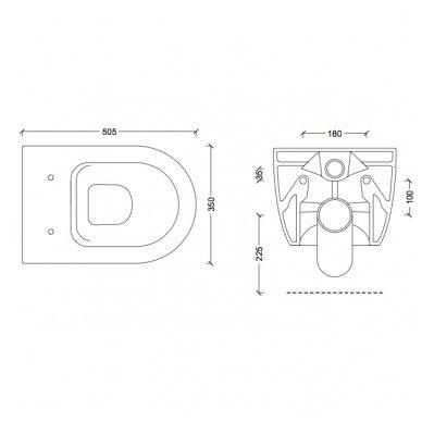 GROHE ir Alice Ceramica Unica RIMLESS su SLIM soft close WC komplektas 9
