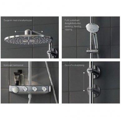 Grohe termostatinė lietaus dušo sistema Euphoria SmartControl 310 Duo 6