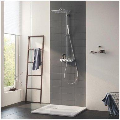 Grohe termostatinė lietaus dušo sistema Euphoria SmartControl 310 Duo Kvadratinė