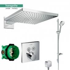 Hansgrohe Raindance Select E potinkinis termostatinis dušo komplektas
