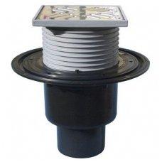 HL310NPR trapas su rėmeliu 123x123mm, nerūdijančio plieno grotelėmis 115x115mm