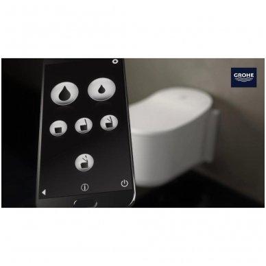 Išmaniojo WC Grohe Sensia Arena su apiplovimo funkcija ir automatiniu dangčiu komplektas 6