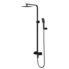 Juoda virštinkinė dušo sistema Omnires Parma PM7444BL