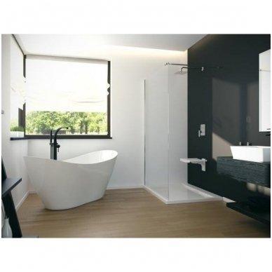 Juodas grindinis maišytuvas voniai Besco Decco 3
