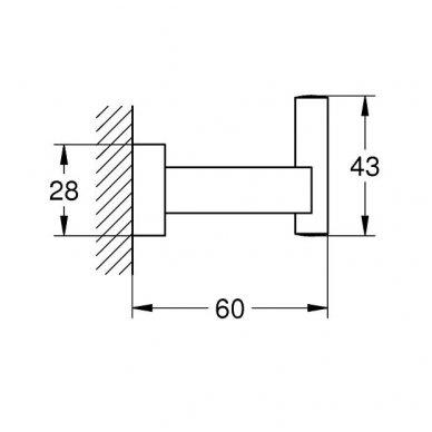 Kabliukas Grohe Essentials Cube 2