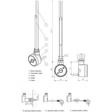 Kaitinimo elementas (tenas) TERMA Dry 4