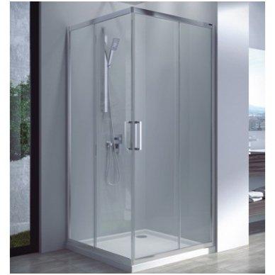 Keturkampė dušo kabina Omnires Chelsea NDC80X