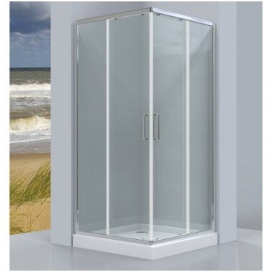 Keturkampė dušo kabina Omnires Chelsea NDC80X 2