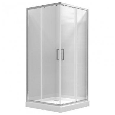 Keturkampė dušo kabina Omnires Chelsea NDC90X