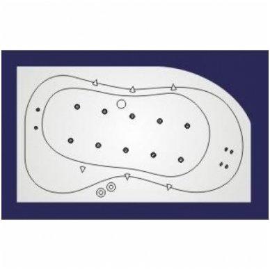 Koller vandens ir oro masažinė sistema voniai Whirlpool LUX 5