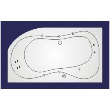 Koller vandens masažinė sistema voniai Whirlpool LUX 2