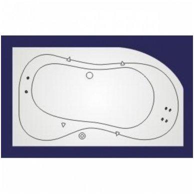 Koller vandens masažinė sistema voniai Whirlpool Standart 1