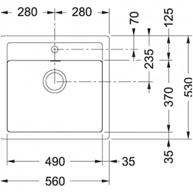 Komplektas Franke Sirius: Tectonite plautuvė SID 610, maišytuvas plautuvei ir dozatorius 3