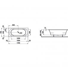 Laufen Pro akrilinė vonia iš Marbond medžiagos