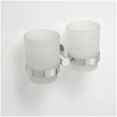 Laikiklis su dviem stiklinėmis pakabinamas Bemeta Omega