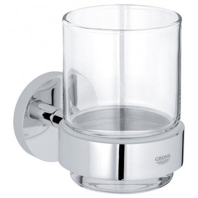 Laikiklis su stikline Grohe Essentials