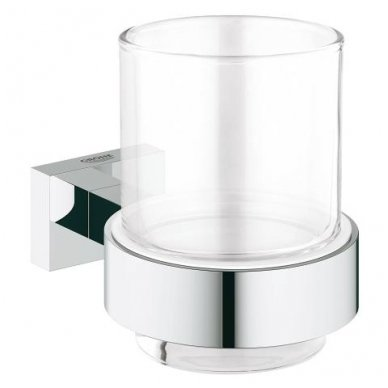 Laikiklis su stikline Grohe Essentials Cube