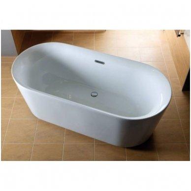 Laisvai pastatoma akrilinė vonia Laguna Zara 169x80