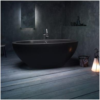 Laisvai pastatoma lieto akmens vonia PAA Dolce Graphite 1800x900