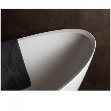 Laisvai pastatoma lieto akmens vonia PAA Felice Silk 1945x830 4