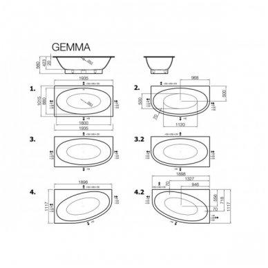 Lieto akmens vonia Vispool Gemma 2