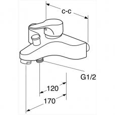 Maišytuvas voniai Gustavsberg Nautic