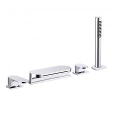 Maišytuvas voniai su krioklio tipo snapu Ravak Chrome (keturių dalių)
