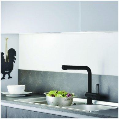 Maišytuvas virtuvės plautuvei su ištraukiama žarna Paffoni Ringo (spalvų pasirinkimas) 2