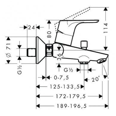 Maišytuvas voniai Hansgrohe Focus E2 2