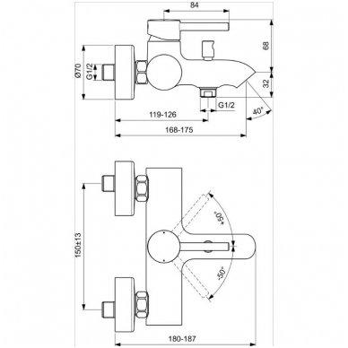 Maišytuvas voniai Ideal Standard Ceraline 2