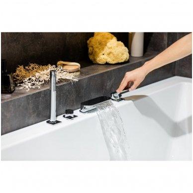 Maišytuvas voniai su krioklio tipo snapu Ravak Chrome (keturių dalių) 4