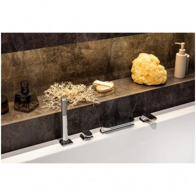 Maišytuvas voniai su krioklio tipo snapu Ravak Chrome (keturių dalių) 2