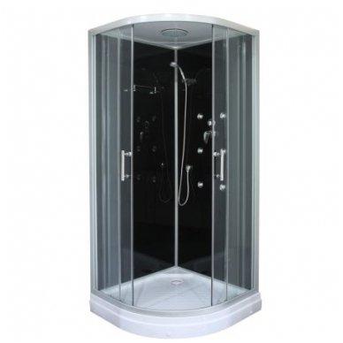 Masažinė dušo kabina Sanipro Lux Black