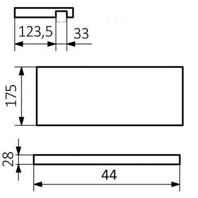 Medinė lentynėlė rankšluosčių džiovintuvui Terma Simple 4