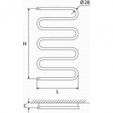 Nerūdijančio plieno gyvatukas Elonika EN 800/858 S