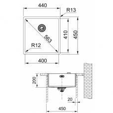 Nerūdijančio plieno plautuvė Franke BOX BXX 210/110-40