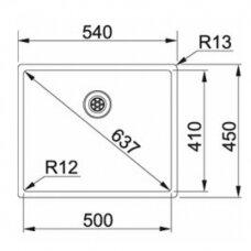 Nerūdijančio plieno plautuvė Franke BOX BXX 210/110-50