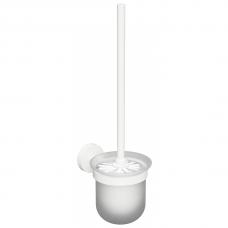 Stiklinis pakabinamas tualetinio šepečio laikiklis Bemeta White