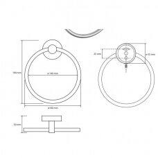 Nerūdijančio plieno žiedinė rankšluosčių pakaba Bemeta Neo