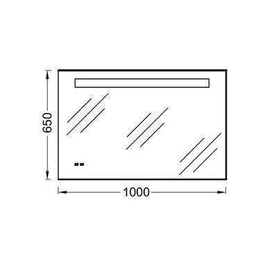 Nerasojantis Kohler veidrodis 100x65 cm su LED un laikrodžiu IP 44 2