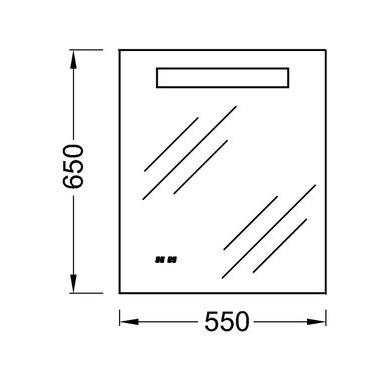 Nerasojantis Kohler veidrodis 55x65 cm su LED apšvietimu 2