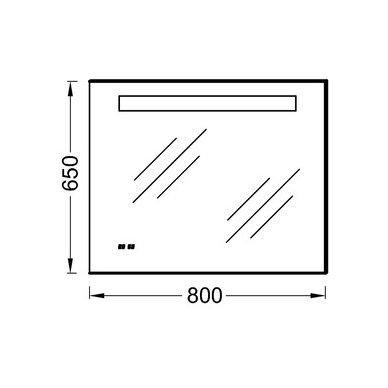 Nerasojantis Kohler veidrodis 80x65 cm su LED un laikrodžiu IP 44 2