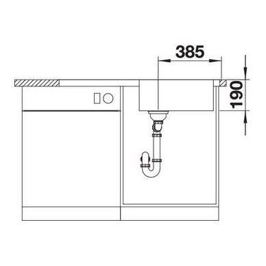 Nerūdijančio plieno plautuvė Blanco Dinas XL 6 S (100x50 cm) 5