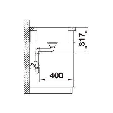 Nerūdijančio plieno plautuvė Blanco Dinas XL 6 S (100x50 cm) 4