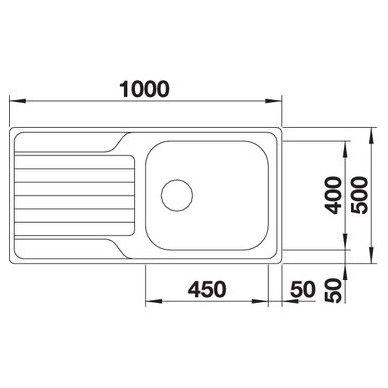 Nerūdijančio plieno plautuvė Blanco Dinas XL 6 S (100x50 cm) 3