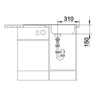 Nerūdijančio plieno plautuvė Blanco Flex (86x43,5 cm) 5