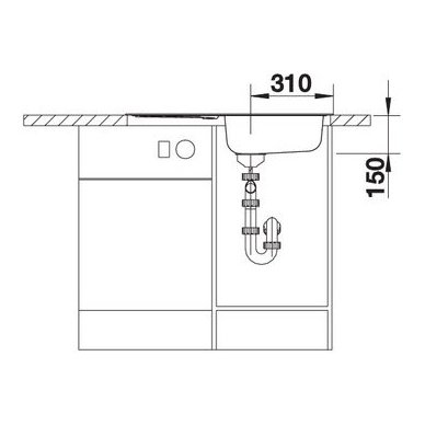 Nerūdijančio plieno plautuvė Blanco Flex Mini (78x43,5 cm) 6