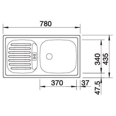 Nerūdijančio plieno plautuvė Blanco Flex Mini (78x43,5 cm) 4