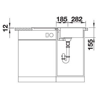Nerūdijančio plieno plautuvė Blanco Flex Pro 45 S (86x48 cm) 5