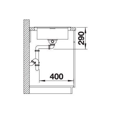 Nerūdijančio plieno plautuvė Blanco Flex Pro 45 S (86x48 cm) 4